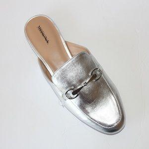Merona Silver Mules Loafers flats Sz 10